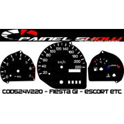 Kit Transl�cido p/ Painel - Cod524v220 - Escort Courier Fiesta
