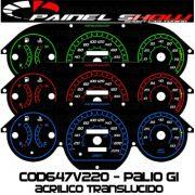 Kit Transl�cido p/ Painel - Cod647v220 - Palio Antigo com Contagiros