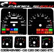 Kit Transl�cido p/ Painel - Cod643v180 - C10 C20 D10 D20 Turbo