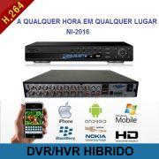 Gravador Digital / DVR/HVR 16 Canais Com Frente Digital Hibrido