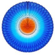 GIRASSOL 420mm (42cm) Tons de Azul c/ Laranja