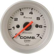 Man�metro Press�o Combust�vel 52mm Cronomac  Racing  0 - 7 kg