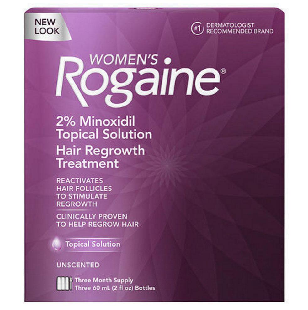 Rogaine - Minoxidil em Solu��o 2% para mulheres - Tratamento para 3 meses