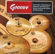Set de Pratos Octagon Groove 14�� 16�� 20�� - Transa Som Instrumentos Musicais