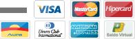 Cart�es: Visa, Master Card, Hipercard, Aura, Dinners, American Express e Saldo Virtual
