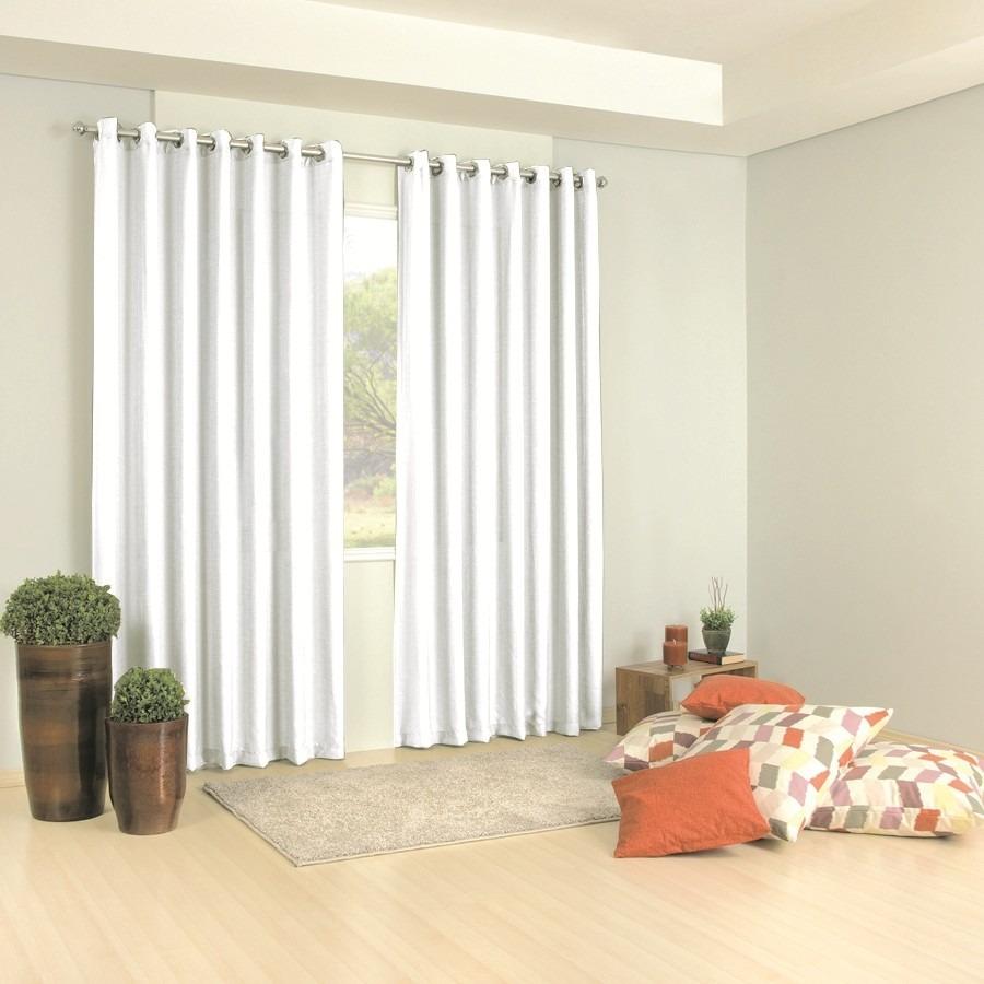Cortina roma para quarto e sala 3 00x2 50 branca c ilh s - Comprar cortinas barcelona ...