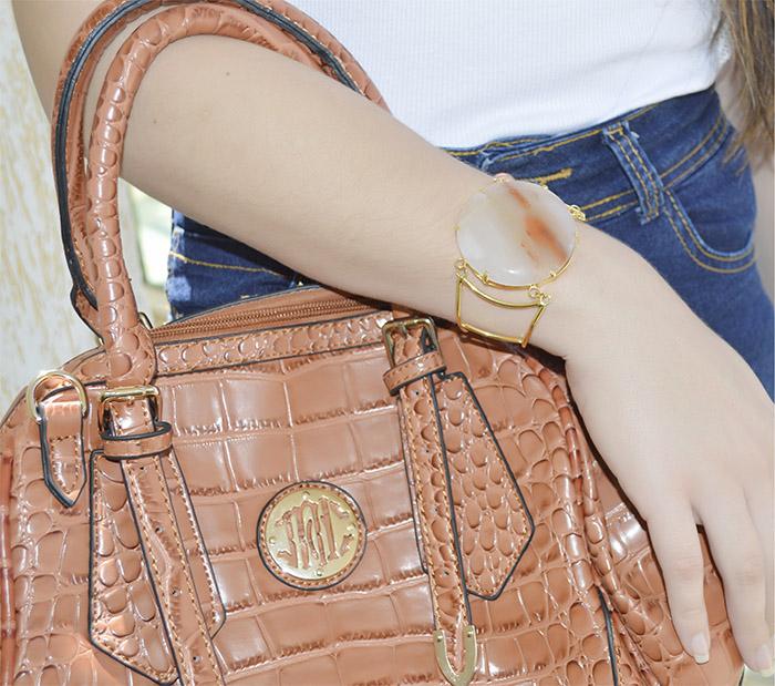 bracelete de agata natural