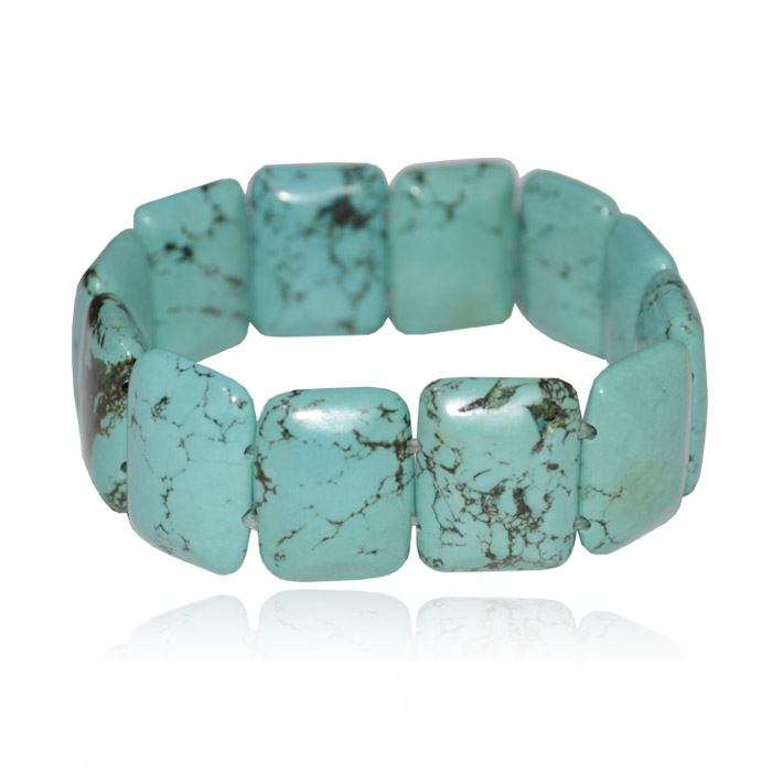 Bracelete de turquesa azul