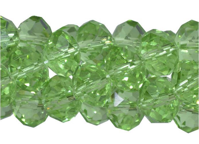 cristal de vidro verde