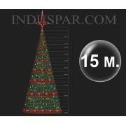 �rvore de Natal Gigante 15 Metros Modelo Decorada  - Kit F�cil Extensivel
