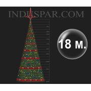 �rvore de Natal Gigante 18 Metros Modelo Decorada  - Kit F�cil Extensivel