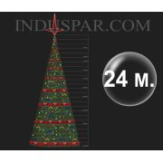�rvore de Natal Gigante 24 Metros Modelo Decorada  - Kit F�cil Extensivel