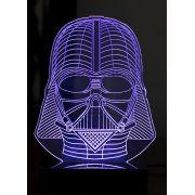 Lumin�ria Illusion 3D Acr�lico LED - Darth Vader