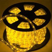 Mangueira Luminosa Amarela LED - 100 Metros 127V - Corda de Natal