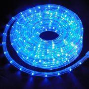 Mangueira Luminosa Azul LED - 10 Metros 220V - Corda de Natal