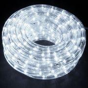 Mangueira Luminosa Branca LED - 10 Metros 127V - Corda de Natal