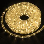 Mangueira Luminosa Branca Morna LED - 10 Metros 127V - Corda de Natal