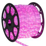 Mangueira Luminosa Rosa LED - 100 Metros 127V - Corda de Natal