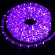 Mangueira Luminosa Roxa LED - 10 Metros 127V - Corda de Natal