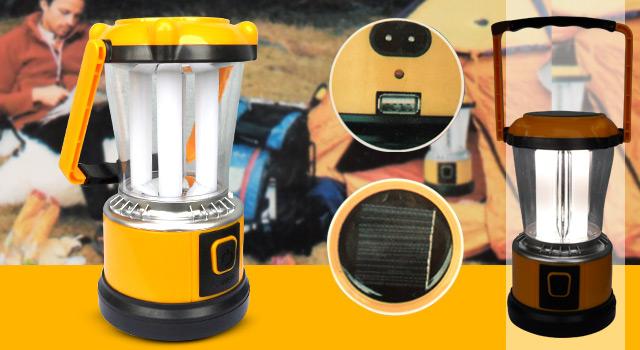 Lampião Led Solar Pilhas e Energia - Frete Grátis
