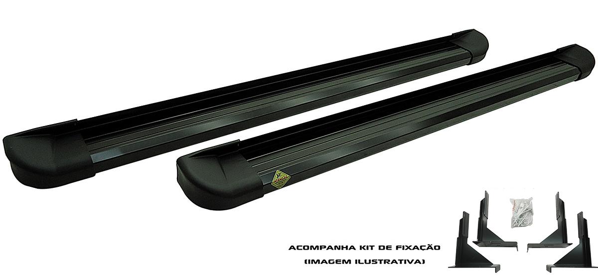 Estribo plataforma alumínio preto Fiat Toro 2017