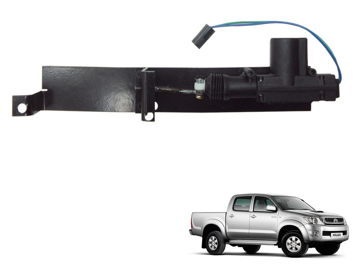 Trava tranca elétrica tampa caçamba p / Hilux 2005 a 2008
