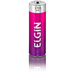 Pilha Recarregável Elgin AA - Blister 2700 mAh c / 2 Peças cod. 82174