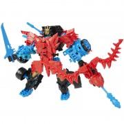 Boneco Transformers 4 Construct Bots Dinobot Warriors Autobot Drift e Roughneck Dino - Hasbro
