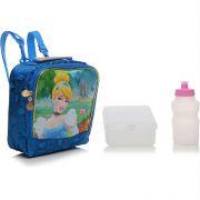 Lancheira Escolar Princesas Disney Cinderela Azul - Dermiwil