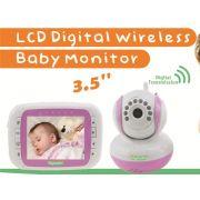 Bab� Eletr�nica DigiBaby 3.5� Wireless - Vis�o Noturna - Sensor de Temperatura - Conversa com o beb�