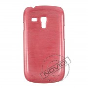 Capa R�gida com Efeito Escovado para Samsung Galaxy S III Mini I8190 - Cor Vermelha