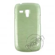Capa R�gida com Efeito Escovado para Samsung Galaxy S III Mini I8190 - Cor Verde 2