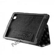 Capa Smart Cover Dobrav�l com Bolinhas Samsung Galaxy TabPro 8.4 T320 - Cor Preta / Branca