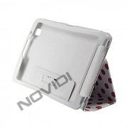 Capa Smart Cover Dobrav�l com Bolinhas Samsung Galaxy TabPro 8.4 T320 - Cor Branca / Rosa