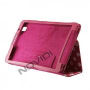 Capa Smart Cover Dobrav�l com Bolinhas Samsung Galaxy TabPro 8.4 T320 - Cor Rosa / Branca