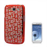 Capa Personalizada S�rie Alfabeto para Samsung Galaxy S3 S III i9300 - Vermelha