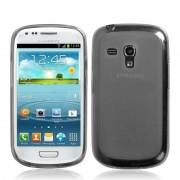 Capa de TPU Premium + Pel�cula Protetora Transparente para Samsung Galaxy S III Mini I8190 - Grafite