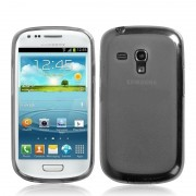 Capa de TPU Premium para Samsung Galaxy S III Mini I8190 - Grafite