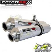 Escape / Ponteira Coyote RS3 Alum�nio PAR Oval XT 660 R - Polido - Yamaha