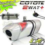 Escape / Ponteira Coyote TRS 2 Way + Mais Alum�nio - CB 500 1997 at� 2005 - Polido - Honda