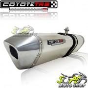 Escape / Ponteira Coyote TRS Tri-Oval Alum�nio CB 300 R Todos os Anos - Polido - Honda