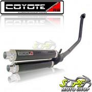 Escape / Ponteira Coyote Competition Alum�nio Duplo CBX Twister 250 - Preto - Honda