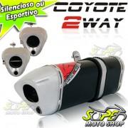Escape / Ponteira Coyote TRS 2 WAY Alum�nio NX-R Bros 150 2009 em Diante - Preto - Honda