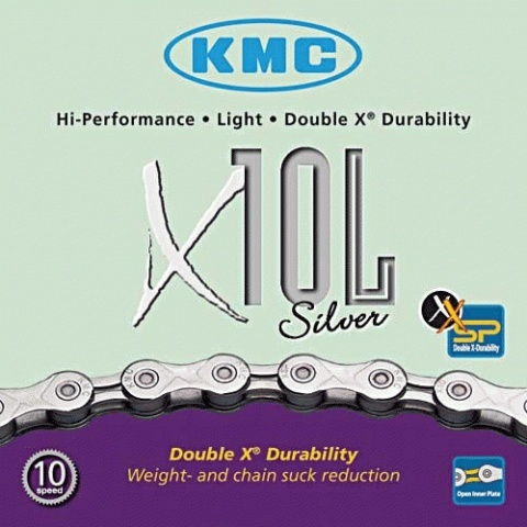 Corrente KMC X10L Silver 10 Velocidades