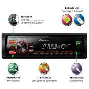 Media Receiver Pioneer Mvh-288bt Usb Bluetooth