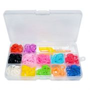 Kit De El�sticos Coloridos Para Fazer Pulseiras - 600 El�sticos Sortidos