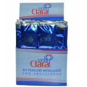 Kit Descart�vel Pedicure Bota Metalizada - Caixa com 50 unidades