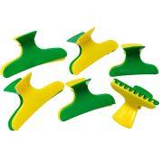 Piranha Pl�stica Verde E Amarelo Com 06 Unidades - Santa Clara