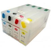 Kit com 4 Cartuchos Recarreg�veis para Impressora Epson Workforce  Modelos: 4532, 4022, 4092 e 4592