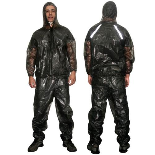 Capa de Chuva Para Motoqueiro ( calça + Jaqueta c / capuz ) PVC - GG